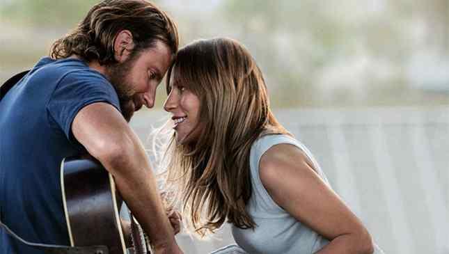 Bradley Cooper e Lady Gaga em Nasce uma Estrela
