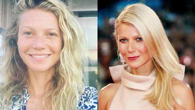 Gwyneth Paltrow sem maquiagem