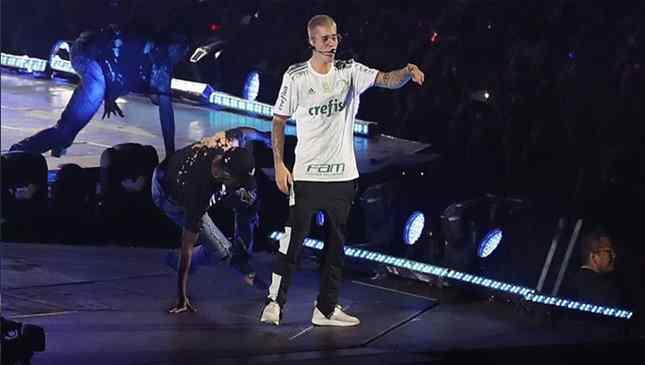 Justin Bieber - Foto - reproudção - Palmeiras