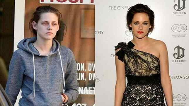 Kristen Stewart sem maquiagem