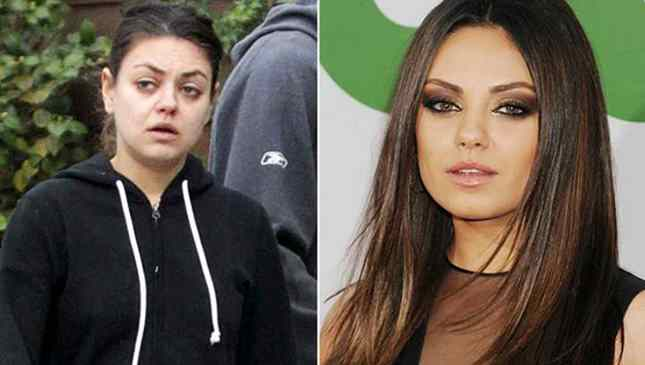 Mila Kunis sem maquiagem