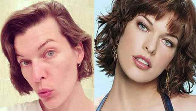 Milla Jovovich sem maquiagem
