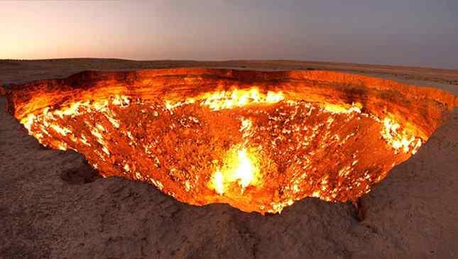 porta do inferno Turcomenistão