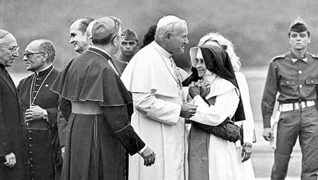 Irmã Dulce e Papa João Paulo segundo