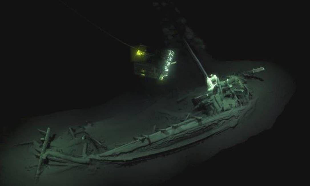 Naufrágio intacto mais antigo do mundo é um navio grego