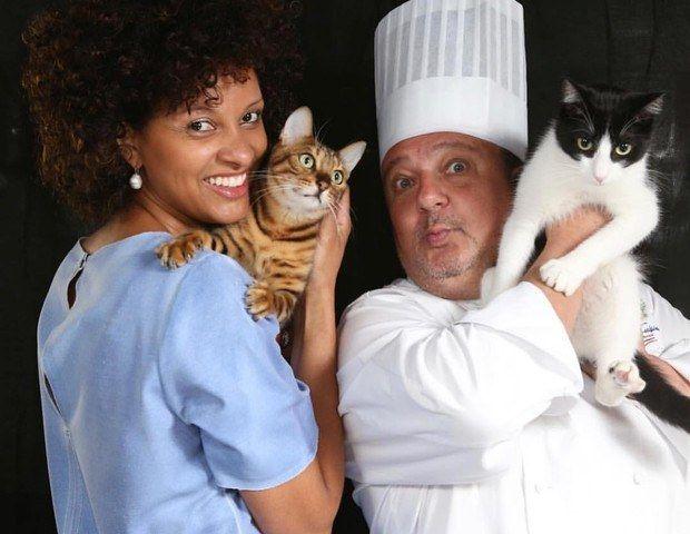 Chef Jacquin adota gato e o batiza de 'Tompero'