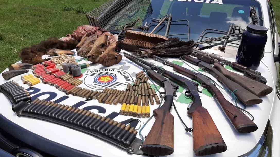 pm ambiental apreendeu armas de fogo