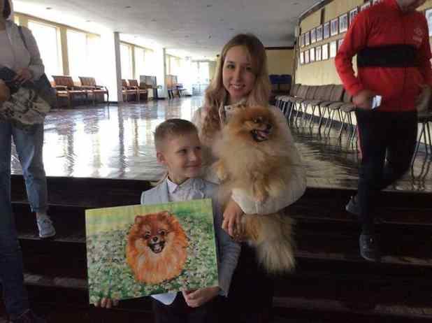artista de 9 anos animais