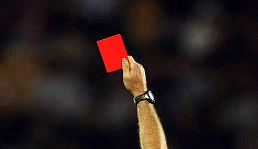 cartão vermelho mais rápido da historia