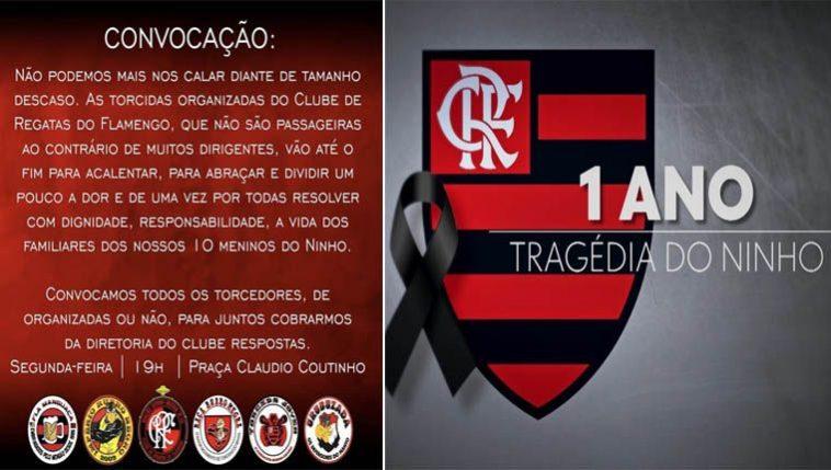 toricdas organizadas do Flamengo convocam protesto