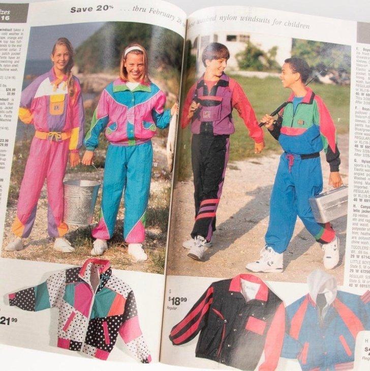 jaquetas coloridas dos anos 90