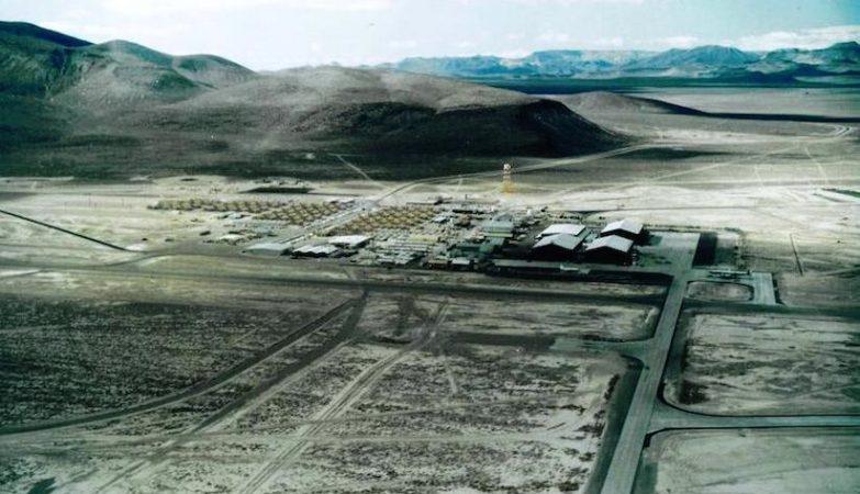 Vista aérea da Área 51