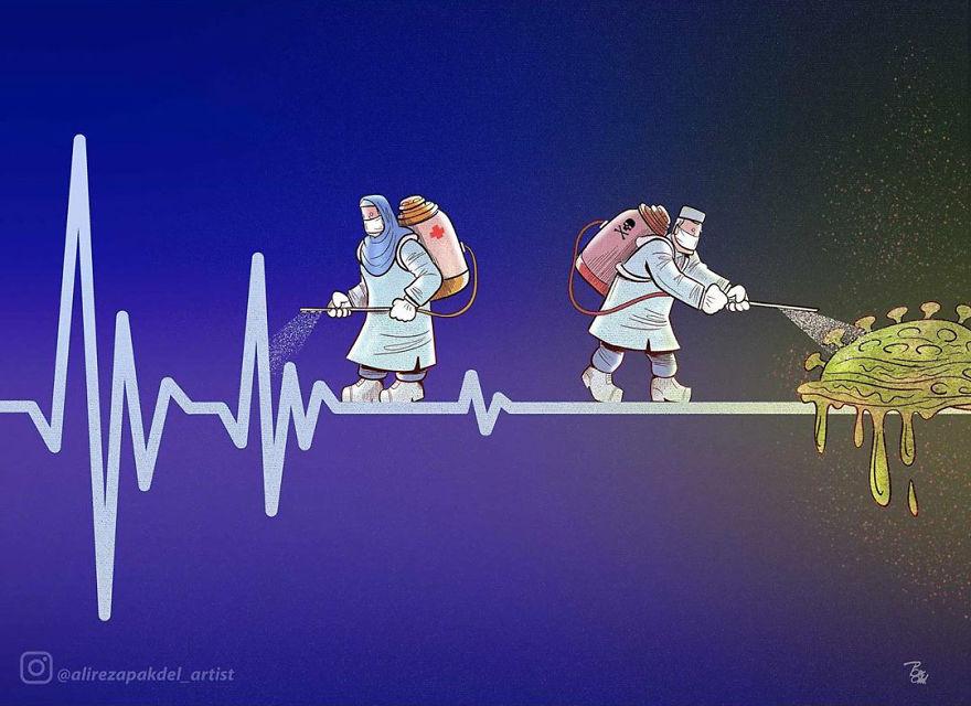 ilustrações coronavírus