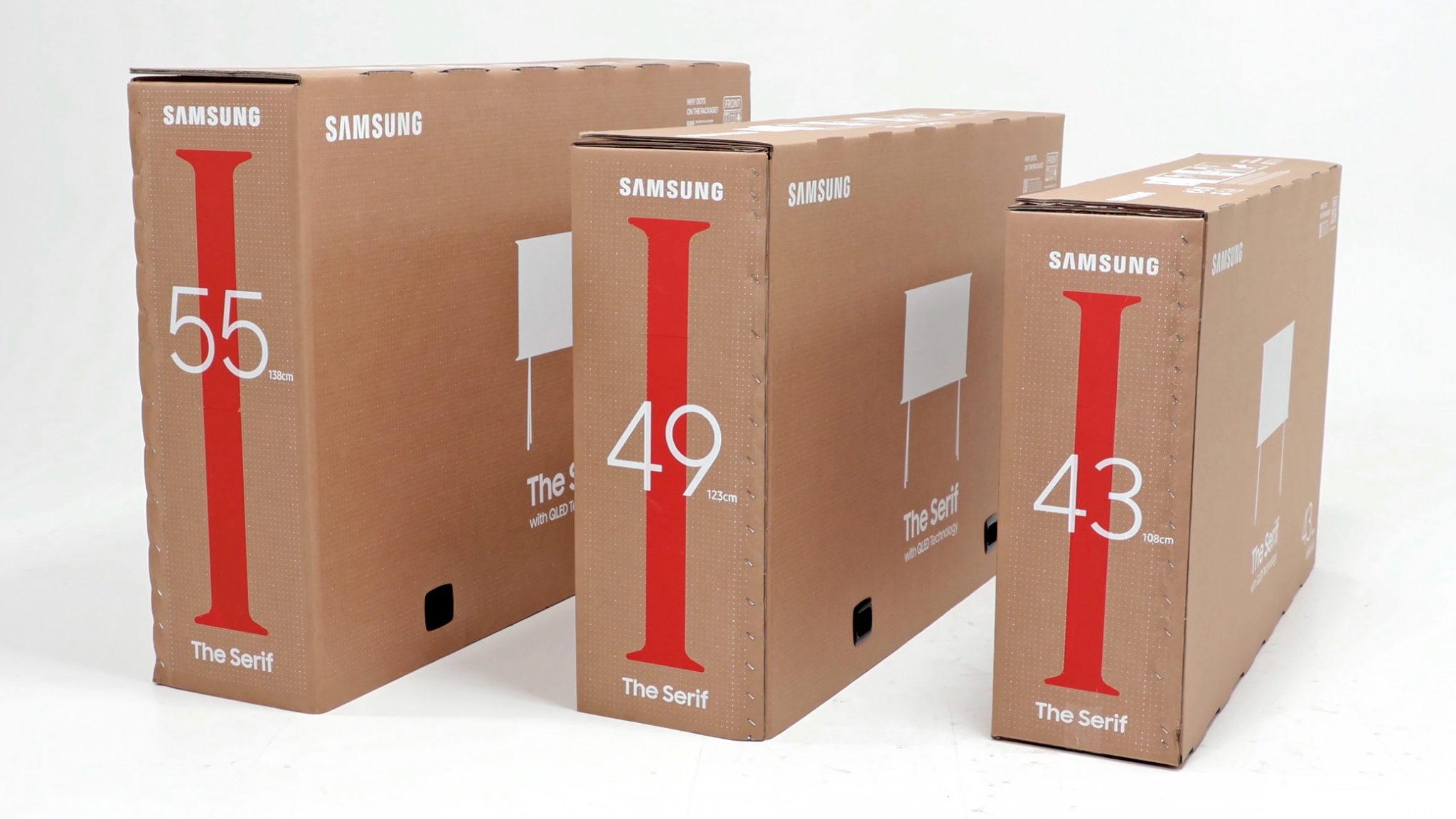 samsung caixas de tv