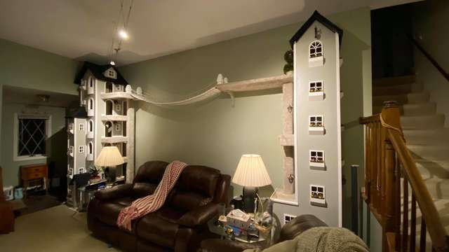 torre de gatos caseira
