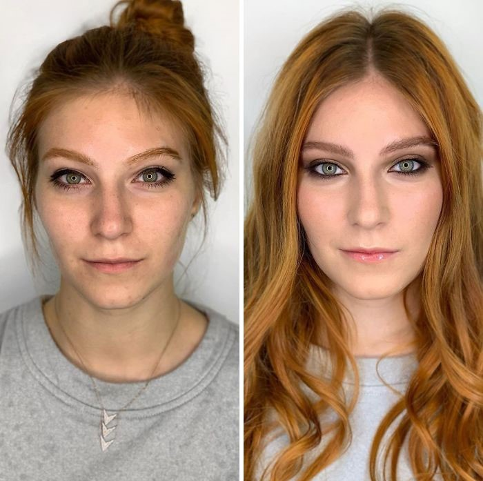 maquiagem amadora e profissional