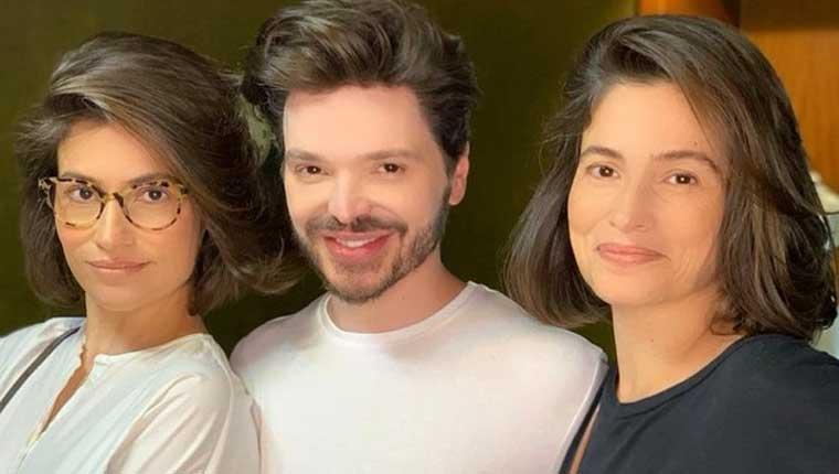 Renata-Vasconcellos-e-Lanza-Mazza-famosos-com-irmãos-gêmeos