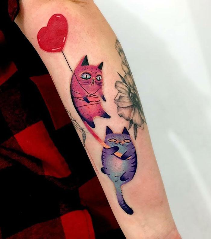 inspiração tatoo gato