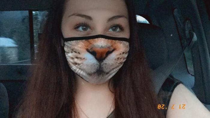 linda máscara gato