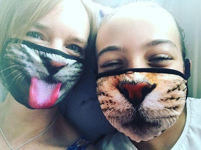 máscaras de gatinho criatividade