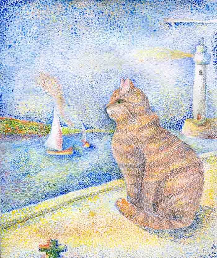 Artista reproduz gatinhos fotos