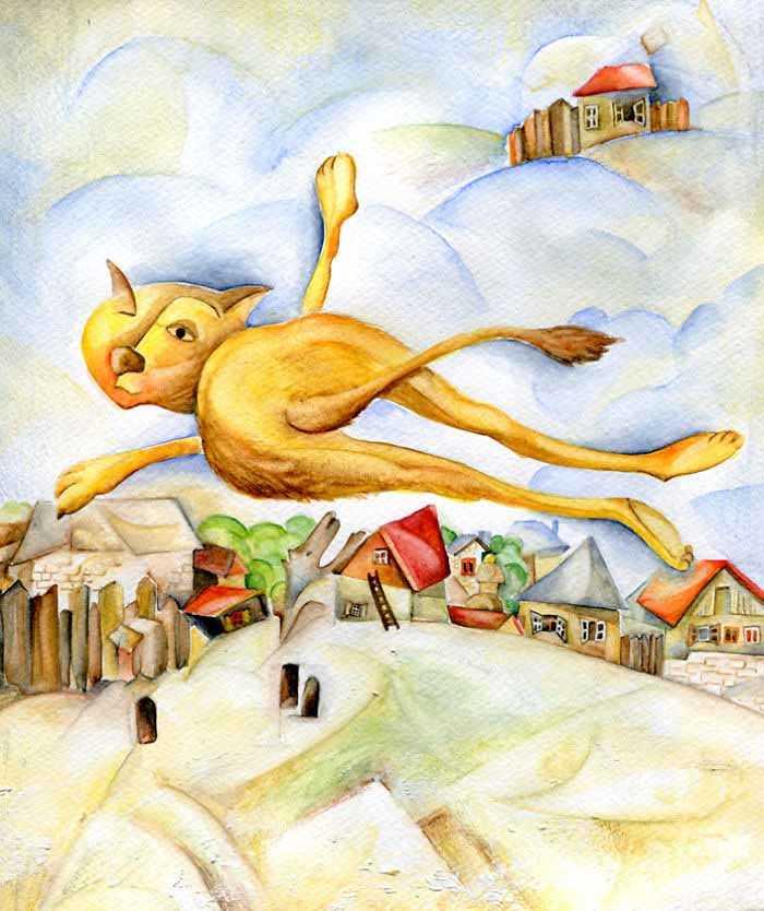 Artista reproduz gatinhos quadros