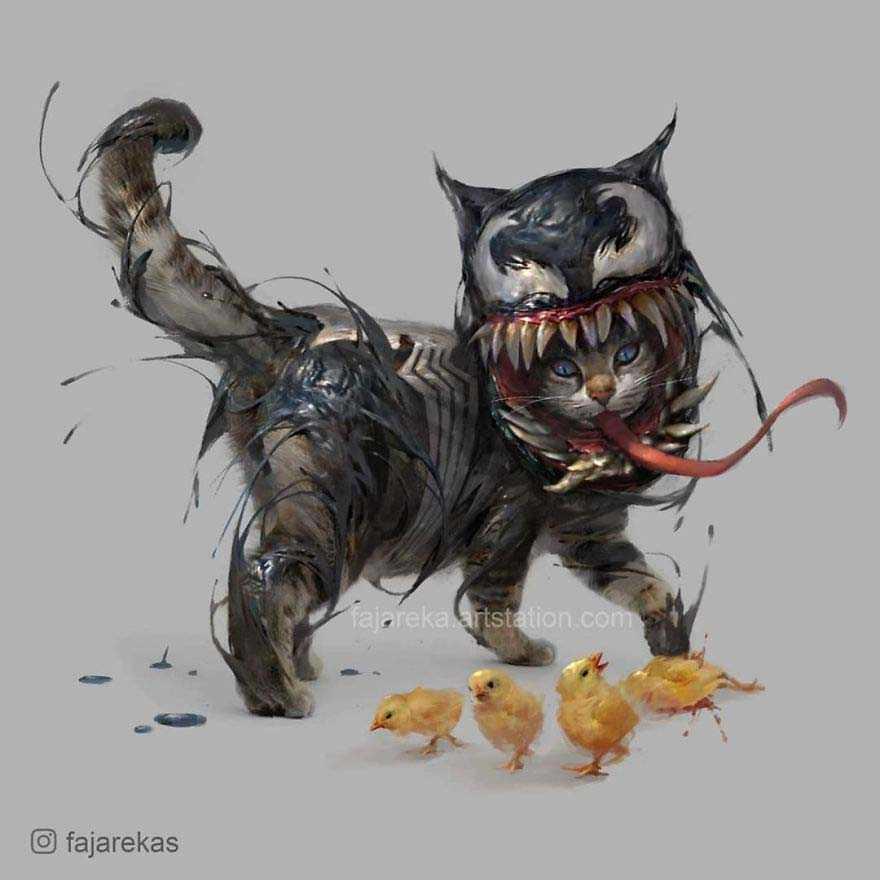 Gatinhos viram personagens marvel
