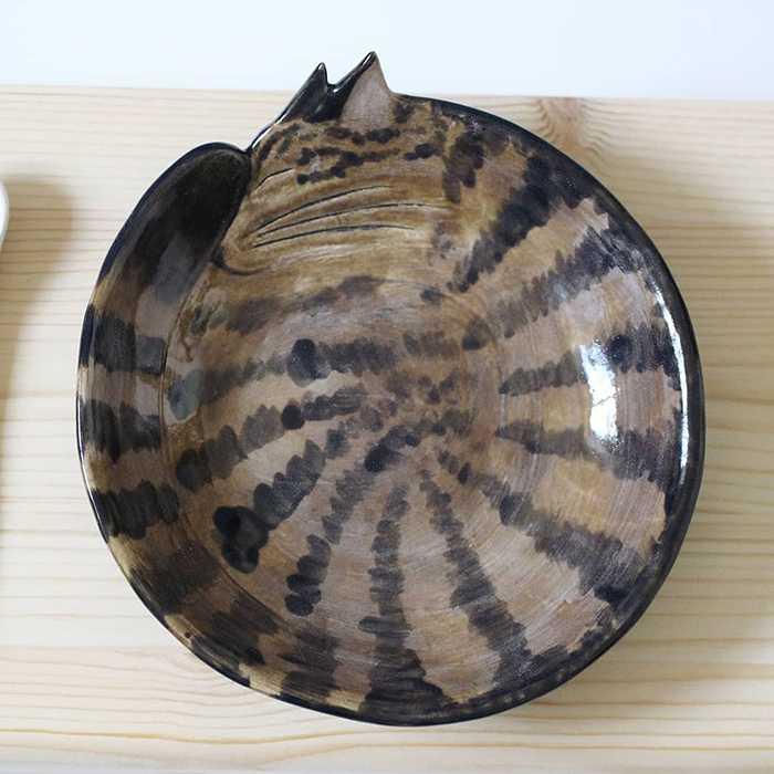 Pratos de cerâmica em formato de gatinhos 2