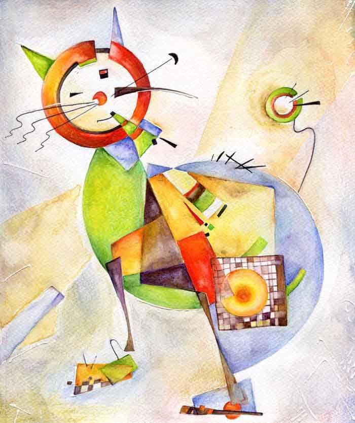 arte gatos
