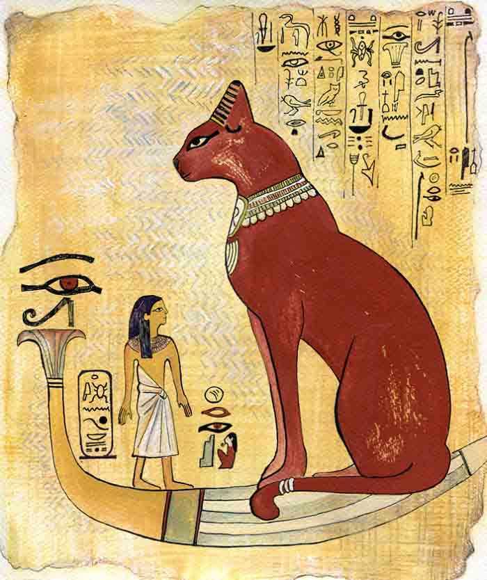 gatos no antigo Egito