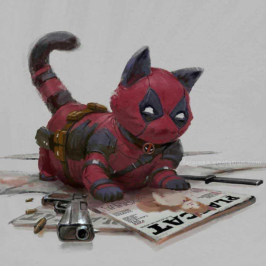 ilustrações gatos