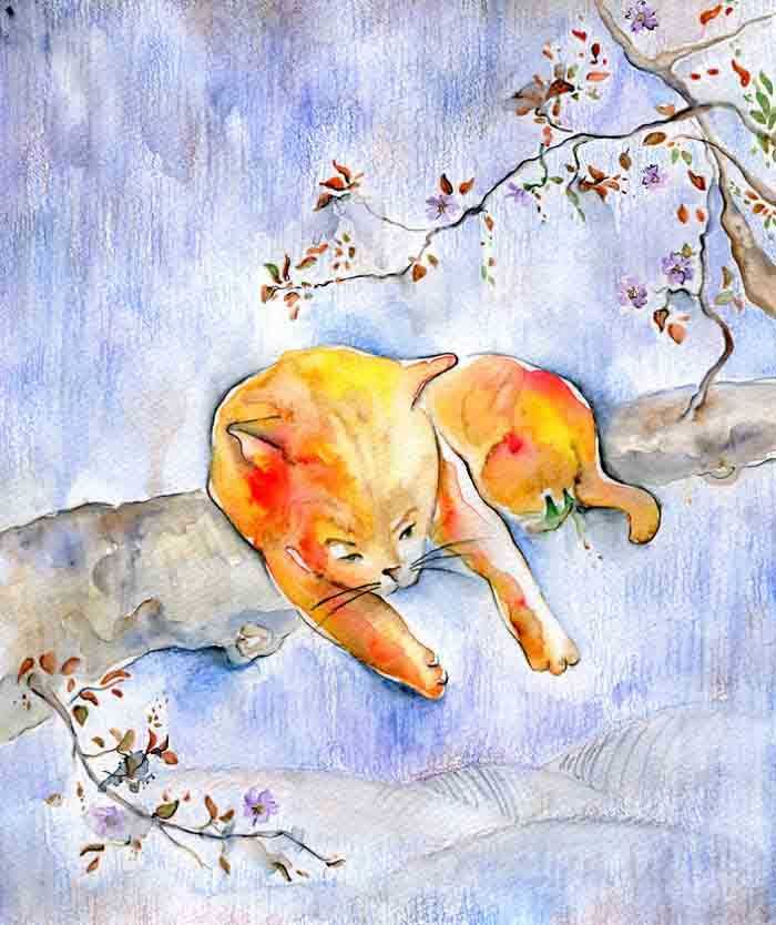 lindas obras de arte com gatos