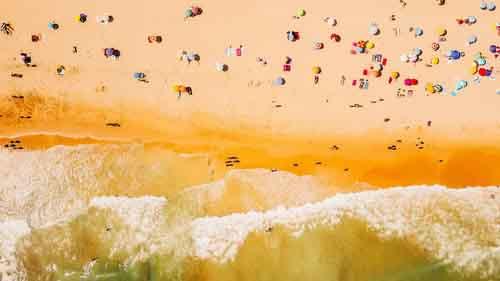 praias lotadas