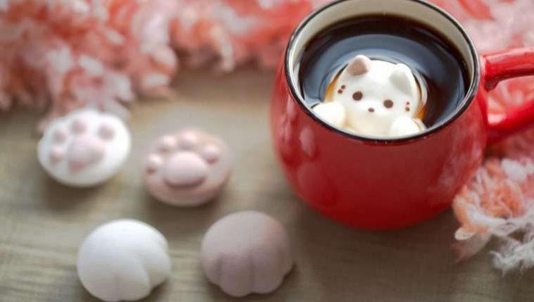Marshmallows em forma de gatinho