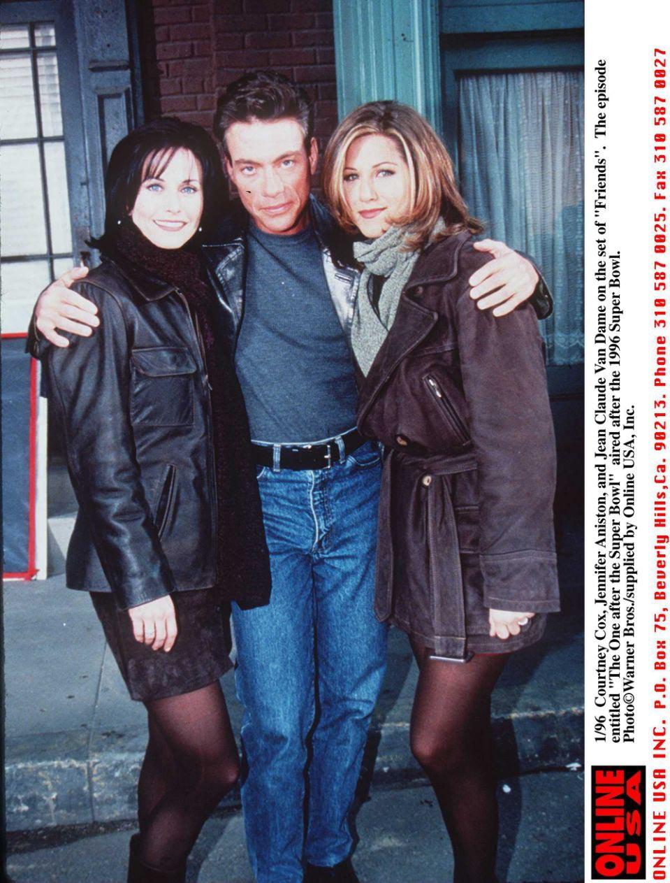 atrizes de Friends e Van Damme