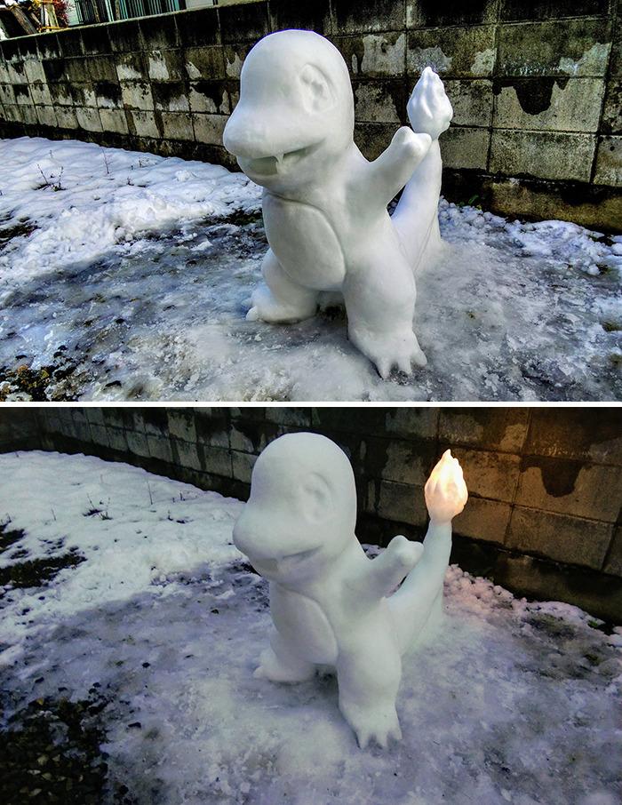 charmander escultura
