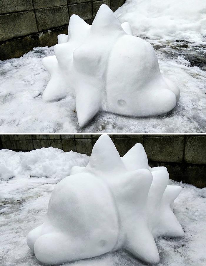 esculturas de neve bonitas