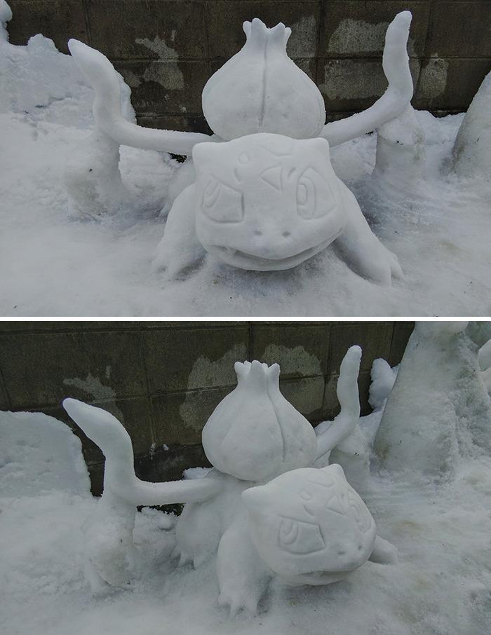 esculturas de neve fotos