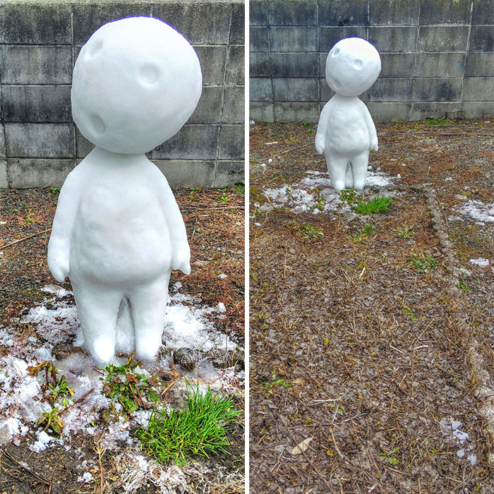 esculturas de neve japão