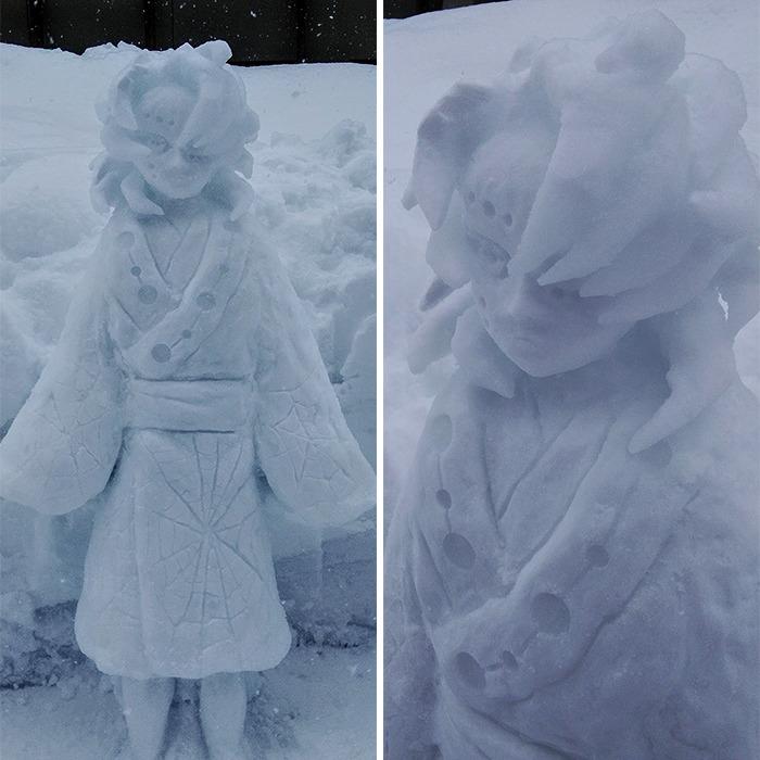 esculturas de neve perfeitas