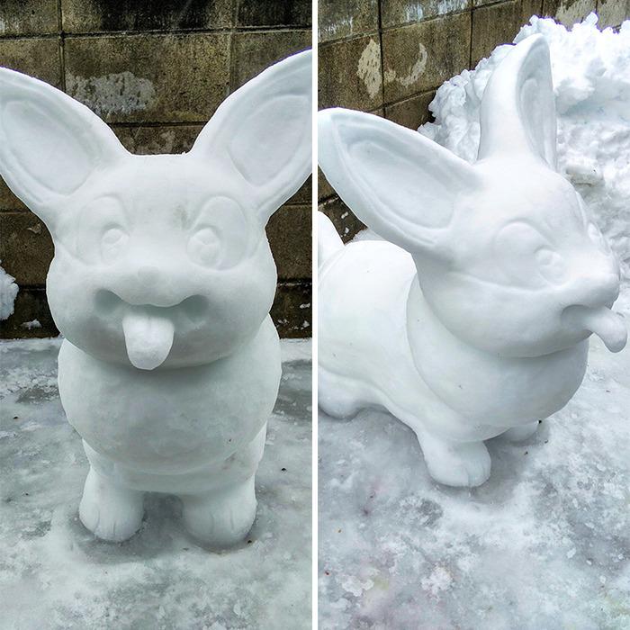 estátuas de neve