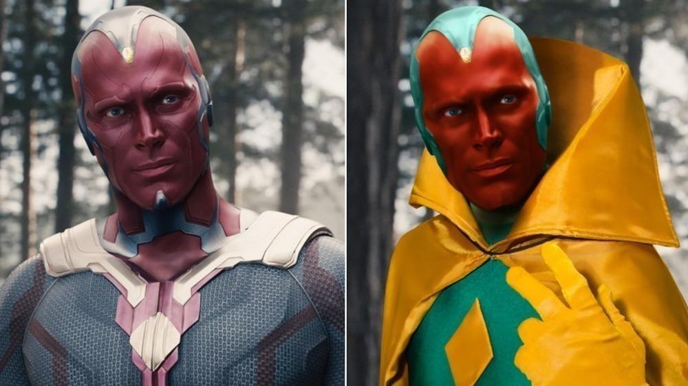 visão roupas dos Vingadores