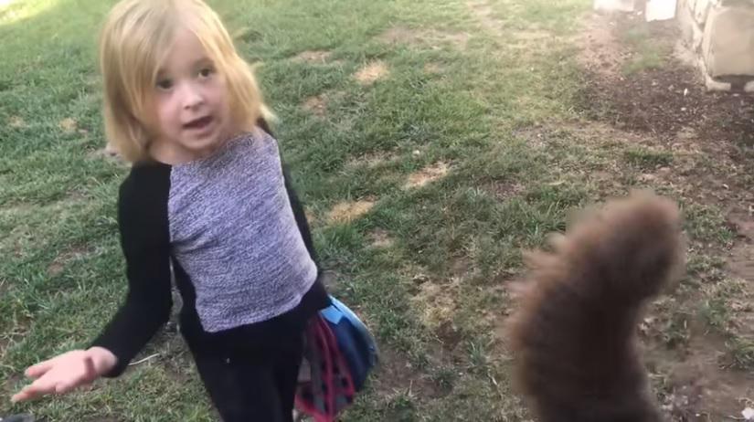 menina defende cachorro